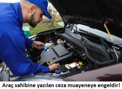 araç motoru ve teknisyen