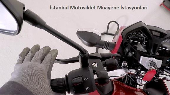 istanbul motosiklet muayenesinde kırmızı motosiklet